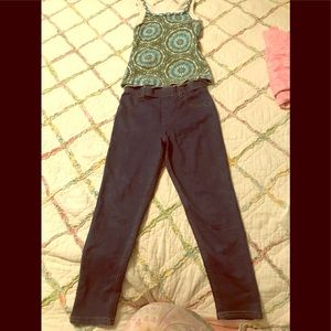 Cute Outfit, Jeggings and Tank Top, Both Size 7